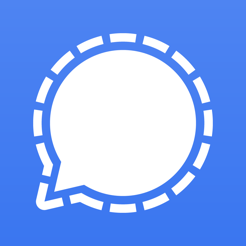 Logo for the encrypted messaging app Signal
