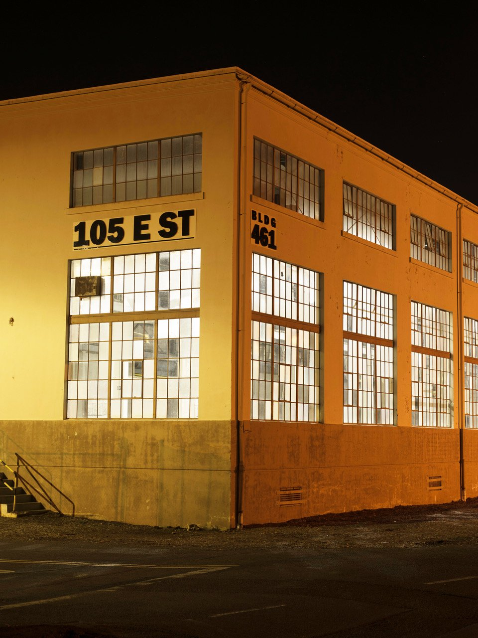 A building on Mare Island, once used by the U.S. Navy.